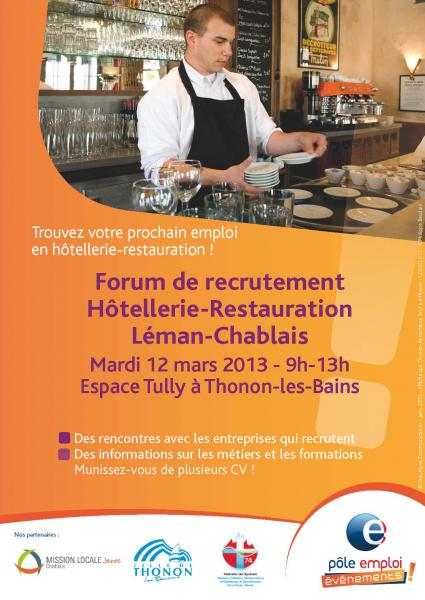forum de recrutement h u00f4tellerie-restauration